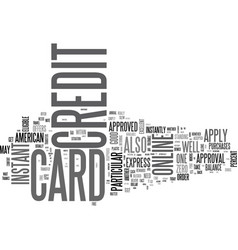 Apply online for a credit card in canada text vector