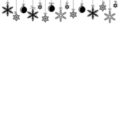 Baubles banner vector