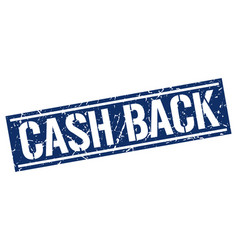 Cash back square grunge stamp vector