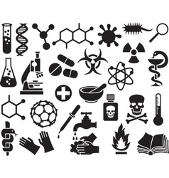 Chemical Icon Set vector image vector image