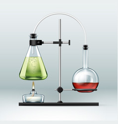 chemical laboratory experiment vector image vector image