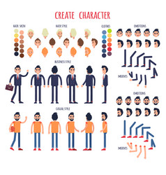 create character set of business and casual style vector image vector image