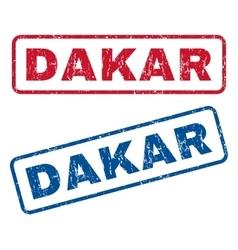 Dakar rubber stamps vector