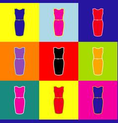 Dress sign pop-art style vector