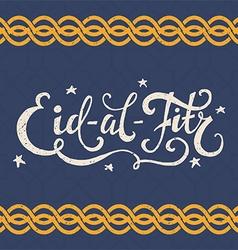 Eid al fitr lettering vector