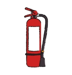 Extinguisher of industrial security design vector