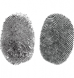 finger prints vector image