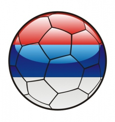 Flag of serbia on soccer ball vector