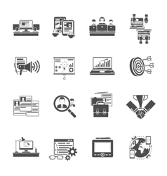 Freelance concept black icons collection vector