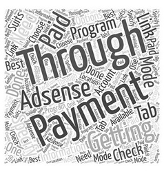 Getting paid through adsense program word cloud vector