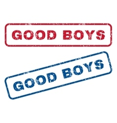 Good boys rubber stamps vector
