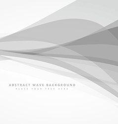grey whte abstract wave background design vector image vector image