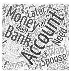 How to protect your finances for divorce word vector