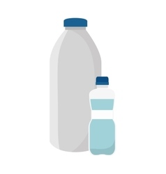 Milk bottle product icon vector
