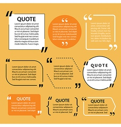 modern quote text template design elements vector image vector image