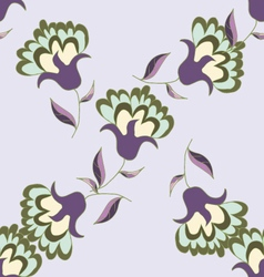 Nice pastel floral seamless pattern vector