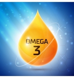 Omega 3 icon vector