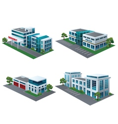 Set of perspective community building vector