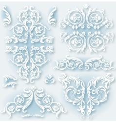 Set of vintage baroque border vector