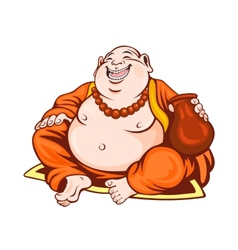Smiling monk vector