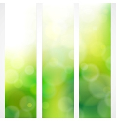 Spring green background colors with the sun vector