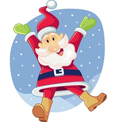 Super Excited Santa Claus Cartoon vector image