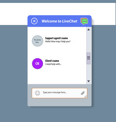 The live chat window vector