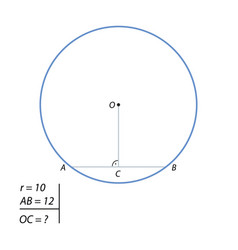 the task of finding the distance from the center vector image vector image
