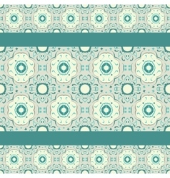 Turquoise ceramic pattern vector