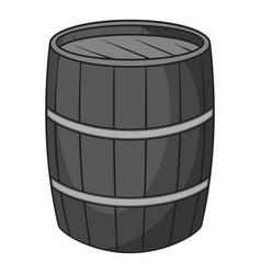 Wine barrel icon monochrome vector