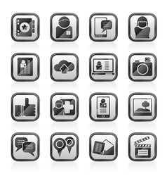 Social media network and internet icons vector