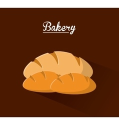 Bread food bakery design vector