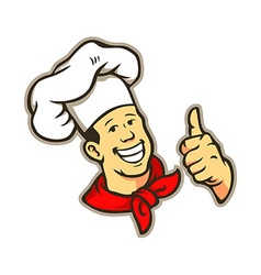 Chef give a thumbs up vector