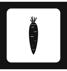 Carrots icon simple style vector