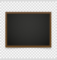 blackboard frame isolated on transparent vector image