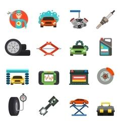 Car repair service icons set vector image