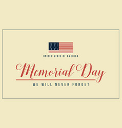 Theme memorial day background collection vector