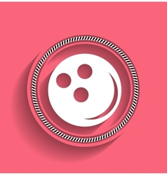 Bowling ball icon modern flat icon vector