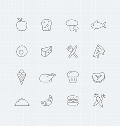 Food thin line symbol icon vector
