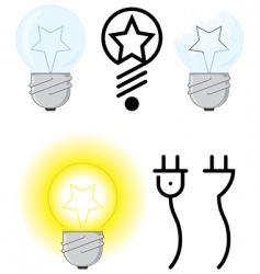 Electric light vector