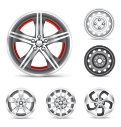set of rims vector image