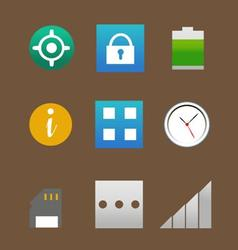 Phone interface icons pack vector