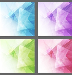 Triangle structure backgrounds set templates vector