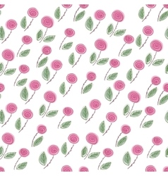 Endless rose pattern vector