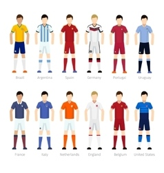 Soccer team players vector