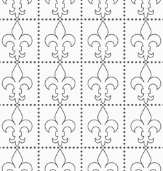Shades of gray contoured fleur-de-lis with dots vector