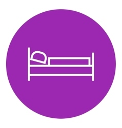 Bed line icon vector