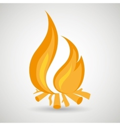 fire flame design vector image