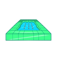 Pool icon cartoon style vector
