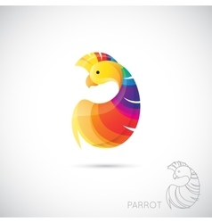 Abstract icon parrot vector